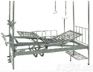 A167不锈钢四摇分腿倾斜骨科牵引床