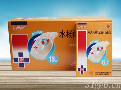 水楊酸苯酚貼膏(白云山雞眼膏)